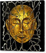 Monk In Meditation Acrylic Print