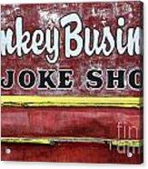 Monkey Business A Joke Shop Acrylic Print