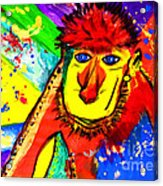 Monkey Pop Art Acrylic Print