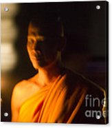 Monks At Yi Peng Acrylic Print
