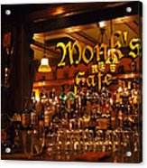 Monks Cafe Acrylic Print by Rona Black