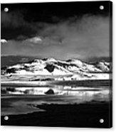 Mono Craters Acrylic Print