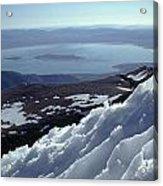 Mo-186-mono Lake From Mt. Dana In Winter  Acrylic Print