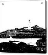 Monochromatic Godrevy Island And Lighthouse Acrylic Print