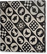 Monochrome Mosaic Acrylic Print