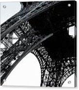 monocrome leg of Eiffel tower Acrylic Print