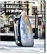 Monopoly Iron Statue In Philadelphia Acrylic Print
