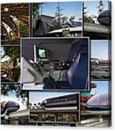 Monorail Disneyland Collage Acrylic Print