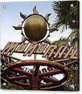 Monorail Signage Disneyland Acrylic Print
