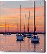 Monroe Harbor Sunrise Acrylic Print