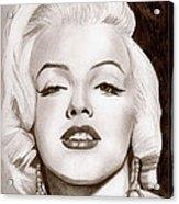 Monroe Acrylic Print by Michael Mestas