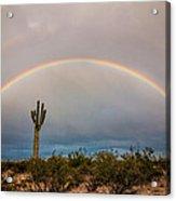 Monsoon Double Rainbow Acrylic Print