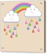 Monsoon Season Background With Happy Acrylic Print