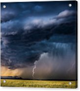 Monsoon Storm With A Multiple Lightning Acrylic Print