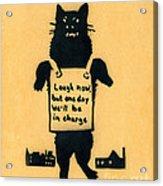 Monster Cat Acrylic Print
