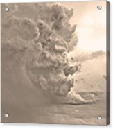 Monster Cloud Sepia Country Acrylic Print