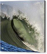 Monster Surf At Mavericks Point In Half Moon Bay California Acrylic Print
