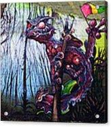 Monster With Flag Acrylic Print