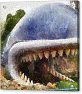 Monstro The Whale At Disneyland All Teeth Photo Art Acrylic Print