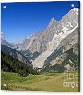 mont Blanc from Ferret valley Acrylic Print