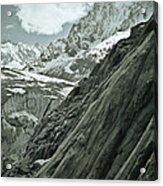 Mont Blanc Glacier Acrylic Print