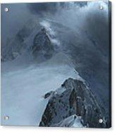 Mont Blanc Storm Acrylic Print