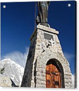 Mont Chetif With Small Chapel Acrylic Print