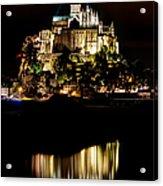 Mont Saint Michel At Night 1 Acrylic Print