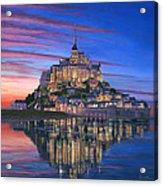 Mont Saint-michel Soir Acrylic Print by Richard Harpum