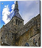 Mont St Michel Tower Acrylic Print