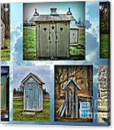 Montage Of Outhouses Acrylic Print
