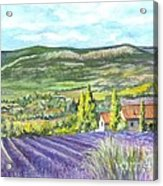 Montagne De Lure In Provence France Acrylic Print