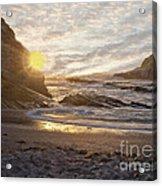 Montana De Oro Sunset II Acrylic Print
