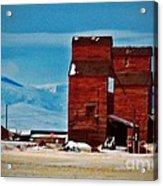 Montana Mountaintown Acrylic Print