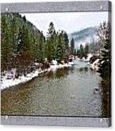 Montana Winter Frame Acrylic Print