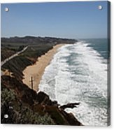 Montara State Beach Pacific Coast Highway California 5d22624 Acrylic Print by Wingsdomain Art and Photography
