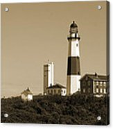 Montauk Point Light In Sepia Acrylic Print
