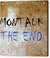 Montauk-the End Acrylic Print