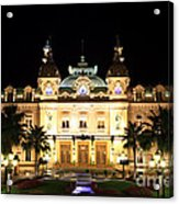 Monte Carlo Casino At Night Acrylic Print