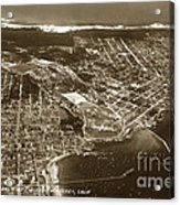 Aerial Of Monterey And Pacific Grove  California Oct. 25 1934 Acrylic Print