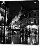 Montmartre Black And White W  Acrylic Print