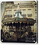 Montpellier Carousel Acrylic Print by Victoria Herrera