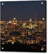 Montreal At Night Acrylic Print