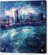 Montreal At Night Acrylic Print by Ion vincent DAnu