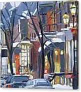 Montreal Hiver Crescent Acrylic Print