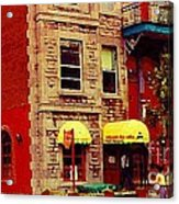 Montreal Memories Restaurant Chez Orphee 362 Fairmount Cb Spandau Montreal Premier City Scene Artist Acrylic Print