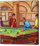 Montreal Pool Room Acrylic Print