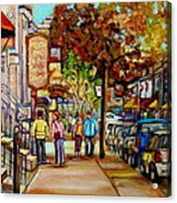 Montreal Streetscenes By Cityscene Artist Carole Spandau Over 500 Montreal Canvas Prints To Choose  Acrylic Print