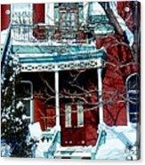 Montreal The Esplanade In Winter Acrylic Print