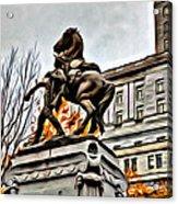 Montreal War Horse Acrylic Print